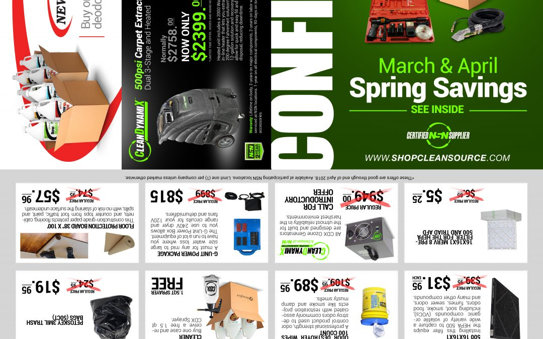 Spring Specials Mailer:  Click The Link For Your Copy