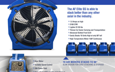 Introducing The Best Low Amp Axial In The Industry!  AF Elite SS Axial Airmovers Are In Stock!