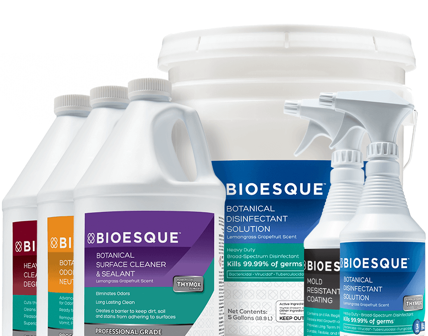CleanSource Now Is A Proud Distributor for Bioesque Solutions….Featuring Botanical Disinfectants, Cleaners, & Coatings